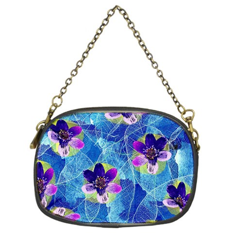 Purple Flowers Chain Purses (Two Sides)