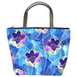 Purple Flowers Bucket Bags Front