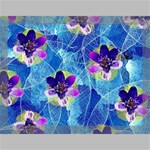 Purple Flowers Canvas 16  x 12  16  x 12  x 0.875  Stretched Canvas