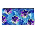 Purple Flowers Pencil Cases Front