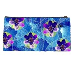 Purple Flowers Pencil Cases Back