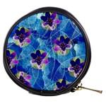 Purple Flowers Mini Makeup Bags Front