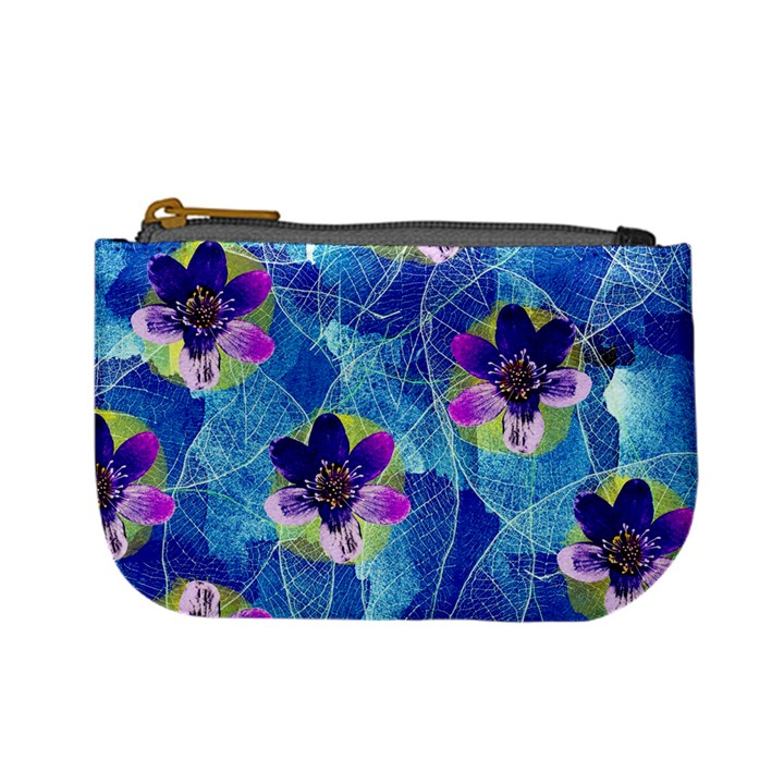 Purple Flowers Mini Coin Purses