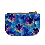 Purple Flowers Mini Coin Purses Back