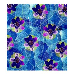 Purple Flowers Shower Curtain 66  x 72  (Large)