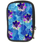 Purple Flowers Compact Camera Cases Front