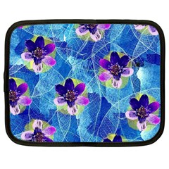 Purple Flowers Netbook Case (xl)