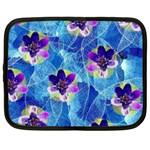 Purple Flowers Netbook Case (XL)  Front