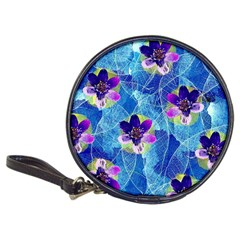 Purple Flowers Classic 20 Cd Wallets