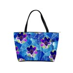 Purple Flowers Shoulder Handbags Front