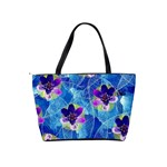 Purple Flowers Shoulder Handbags Back