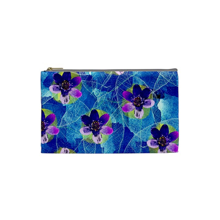 Purple Flowers Cosmetic Bag (Small)
