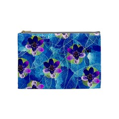 Purple Flowers Cosmetic Bag (medium)