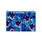 Purple Flowers Cosmetic Bag (Medium)  Back