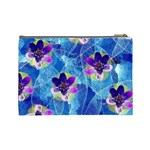 Purple Flowers Cosmetic Bag (Large)  Back