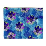 Purple Flowers Cosmetic Bag (XL) Front