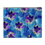 Purple Flowers Cosmetic Bag (XL) Back