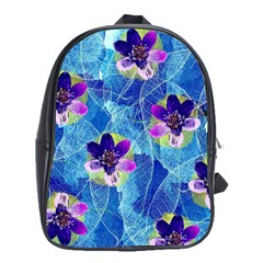 Purple Flowers School Bags(Large)