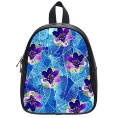 Purple Flowers School Bags (Small)