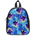 Purple Flowers School Bags (Small)  Front