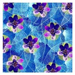 Purple Flowers Small Memo Pads 3.75 x3.75  Memopad