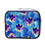 Purple Flowers Mini Toiletries Bags Front
