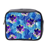 Purple Flowers Mini Toiletries Bag 2-Side Front