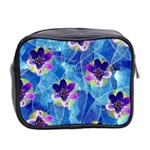 Purple Flowers Mini Toiletries Bag 2-Side Back