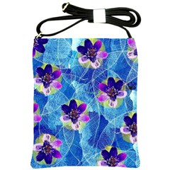 Purple Flowers Shoulder Sling Bags
