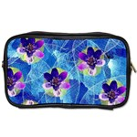 Purple Flowers Toiletries Bags Front