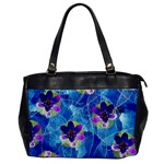 Purple Flowers Office Handbags Front