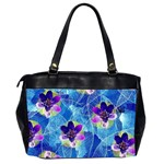 Purple Flowers Office Handbags (2 Sides)  Back