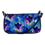 Purple Flowers Shoulder Clutch Bags Front