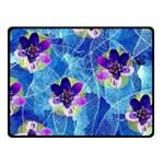 Purple Flowers Fleece Blanket (Small) 50 x40 Blanket Front