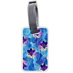 Purple Flowers Luggage Tags (Two Sides) Back