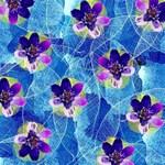 Purple Flowers Magic Photo Cubes Side 1