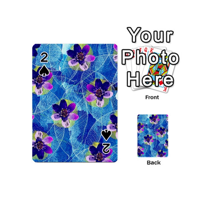 Purple Flowers Playing Cards 54 (Mini)