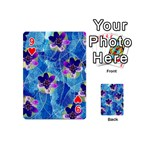 Purple Flowers Playing Cards 54 (Mini)  Front - Heart9