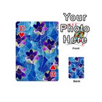 Purple Flowers Playing Cards 54 (Mini)  Front - Heart10