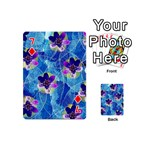 Purple Flowers Playing Cards 54 (Mini)  Front - Diamond7