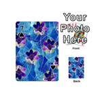 Purple Flowers Playing Cards 54 (Mini)  Front - Spade7