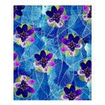 Purple Flowers Shower Curtain 60  x 72  (Medium)  54.25 x65.71 Curtain