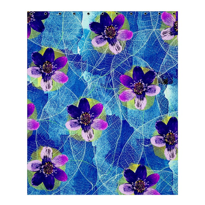 Purple Flowers Shower Curtain 60  x 72  (Medium)