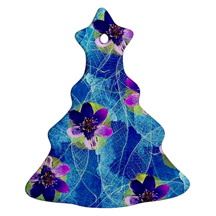 Purple Flowers Ornament (Christmas Tree)