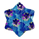 Purple Flowers Snowflake Ornament (2-Side) Front