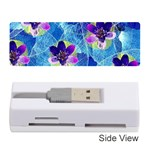 Purple Flowers Memory Card Reader (Stick)  Front