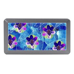 Purple Flowers Memory Card Reader (Mini)