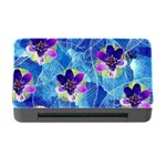 Purple Flowers Memory Card Reader with CF Front