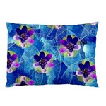Purple Flowers Pillow Case (Two Sides) Back