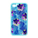 Purple Flowers Apple iPhone 4 Case (Color) Front